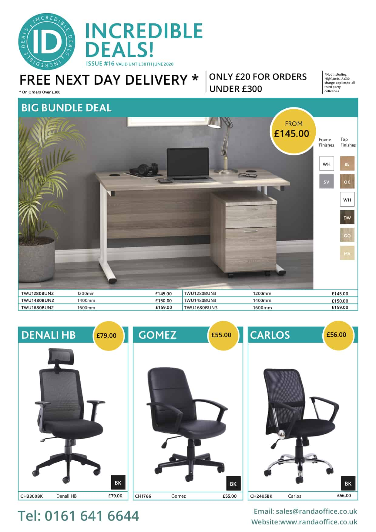 incredible deals by office furniture Manchester