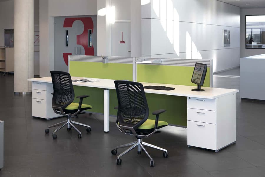 Cool-White-and-Green-office-Furniture
