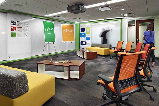 Workplace design in the office - Interior design work environment ...