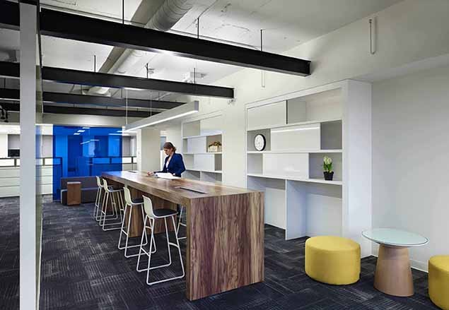 Workplace design in the office for Office design and productivity