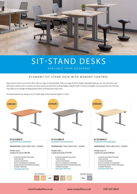sit-stand desks - office furniture manchester