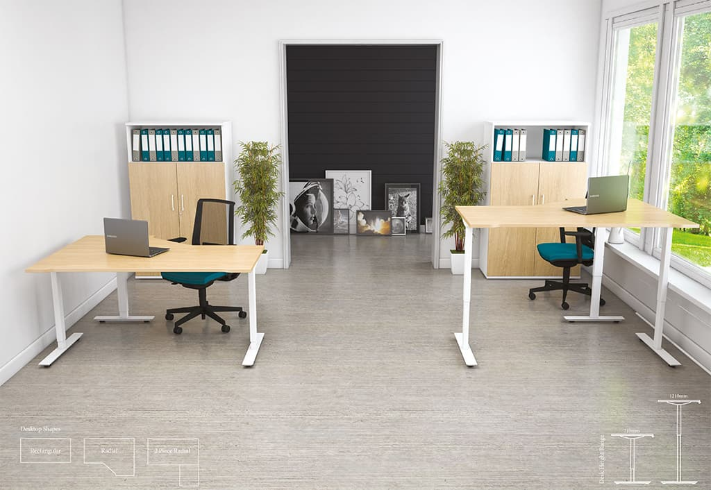 SIT-STAND DESKS – HEIGHT ADJUSTABLE AVAILABLE NOW